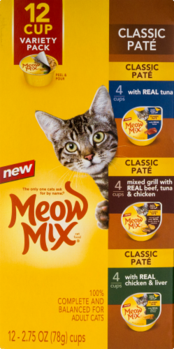 Meow Mix Classic Pate Wet Cat Food Variety Pack Perspective: bottom