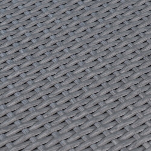 Noble House Mussel Rock 5 Piece Outdoor Wicker Dining Set in Gray Perspective: bottom