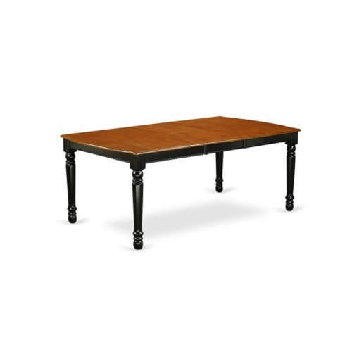 East West Furniture Dover 5-piece Wood Kitchen Table Set in Black/Cherry Perspective: bottom