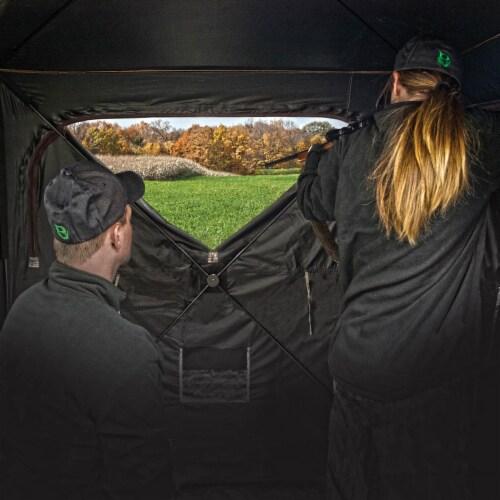 Barronett Grounder 350 Bloodtrail Camo Pop Up Ground Hunting Blind (2 Pack) Perspective: bottom