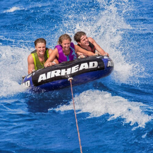 Airhead Super Slice Inflatable Triple Rider Towable Tube Water Raft (2 Pack) Perspective: bottom