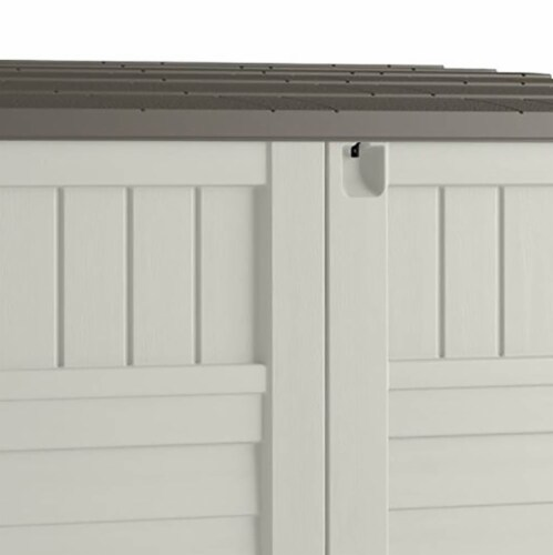 Suncast 34 CU Durable Resin Horizontal Storage Shed w/ Reinforced Floor (2 Pack) Perspective: bottom