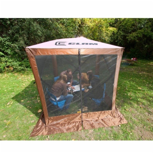 Clam Quick Set Traveler Camping Outdoor Portable Gazebo Canopy Shelter (2 Pack) Perspective: bottom