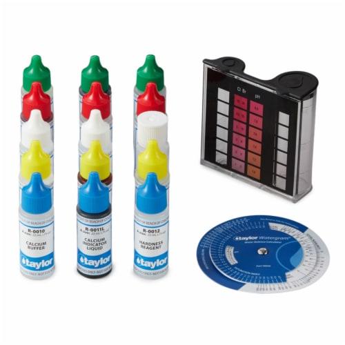 Taylor K2005 Swimming Pool Chlorine Bromine Alkalinity Hardness pH DP Test Kit Perspective: bottom