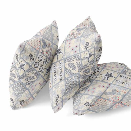 Amrita Sen Fall Patch Snowflowers 18 x18  Suede Pillow in Dark Green Peach Perspective: bottom