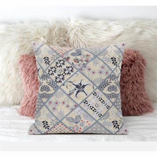 Amrita Sen Fall Patch Snowflowers 20 x20  Suede Pillow in Dark Green Peach Perspective: bottom