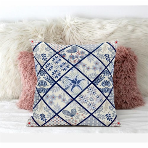 Amrita Sen Fall Patch Snowflowers 18 x18  Suede Pillow in Gold Cream Peach Perspective: bottom