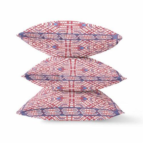 Amrita Sen Geostar Wreath Palace 20 x20  Suede Pillow in Light Blue Hot Pink Perspective: bottom
