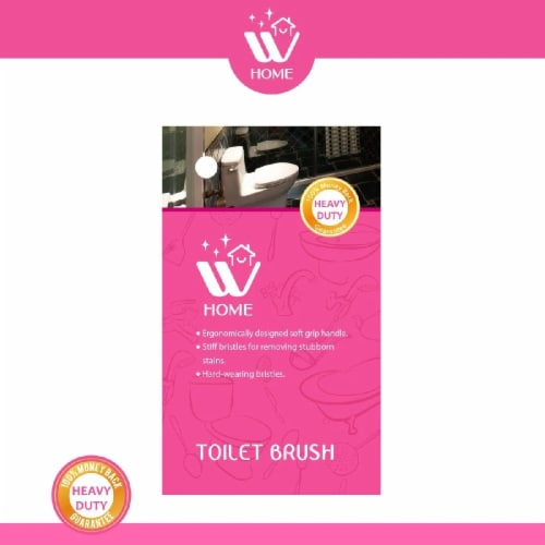 W Home Toilet Brush, Bathroom Cleaning Bowl Brush, Long Handle Toilet Scrubber   Pack Of 2 Perspective: bottom