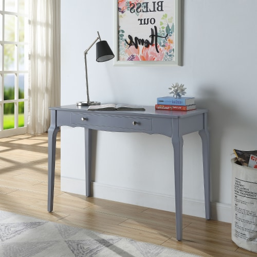ACME Furniture 93019 Alsen Classical Wooden Writing Desk with 1 Drawer, Gray Perspective: bottom