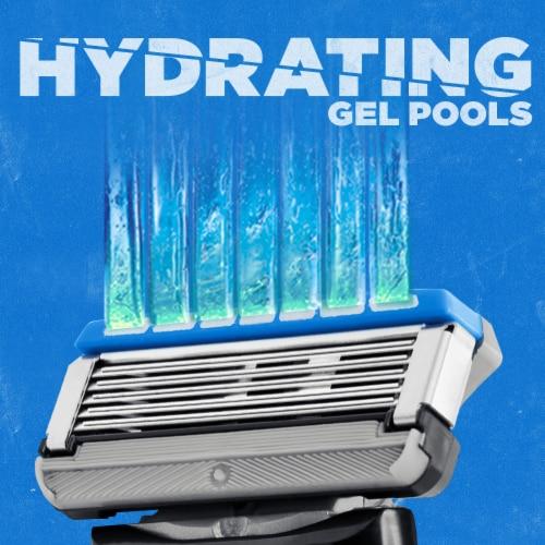 Schick Hydro 5 Sense Hydrate Razor Perspective: bottom