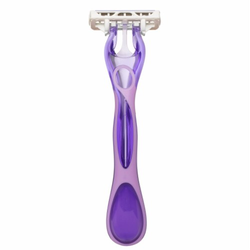 Skintimate Exotic Violet Blooms Disposable Razors Perspective: bottom