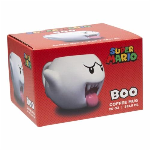 Super Mario Bros White Boo Molded Coffee Mug | 20 oz Perspective: bottom