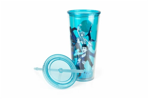 Yuri On Ice Characters Plastic Tumbler Cup With Lid & Straw | Holds 16 Ounces Perspective: bottom
