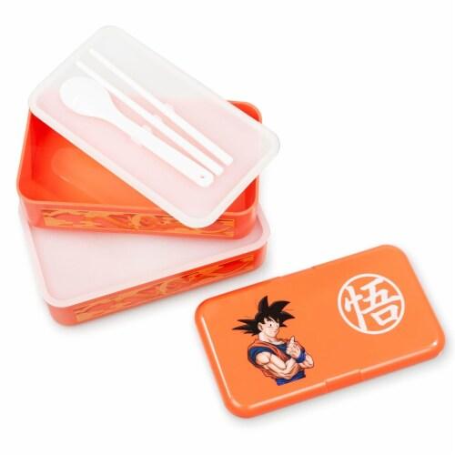 Dragon Ball Z Goku Bento Box w/ Chopsticks & Spoon Perspective: bottom