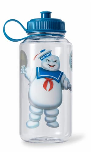 Ghostbusters Stay Puft 32oz Plastic Water Bottle w/ Ice Cube Molds Perspective: bottom