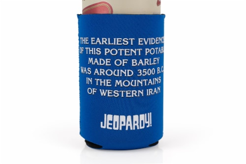 Jeopardy What Is Beer Koozie Insulated Can Koozie | Foam Beer Can Cooler Sleeve Perspective: bottom