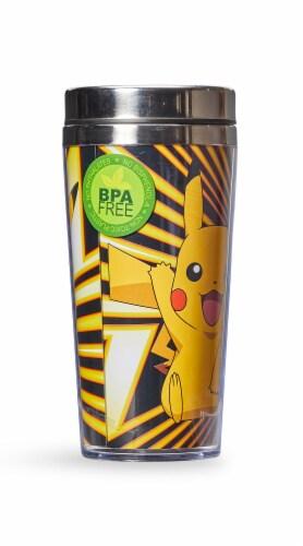 Pokemon Pikachu Travel Mug - 16oz BPA-Free Car Tumbler with Spill-Proof Lid Perspective: bottom