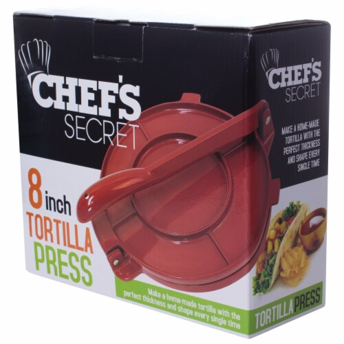 Chefs Secret Red Tortilla Press ,  6-Inch Perspective: bottom