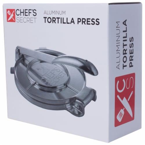 Chef's Secret 8 Inch Tortilla Aluminium Press Perspective: bottom