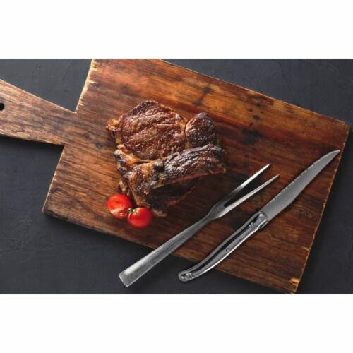 Slitzer 6-piece European Style Steak Knife Set Elegantly Contoured Kitchen Cutlery Perspective: bottom