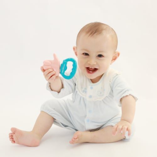 Toys by People® Brain Builders™ - Thumbs Up Pacifier Perspective: bottom