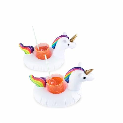 Unicorn Drink Floaties (set of 2) by TrueZoo Perspective: bottom
