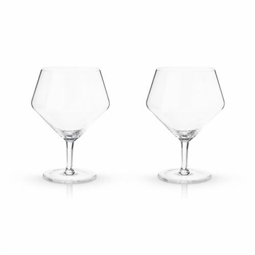 Angled Crystal Gin & Tonic Glasses by Viski® Perspective: bottom