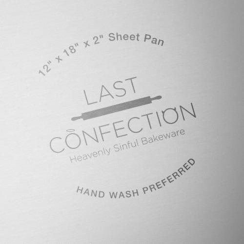 12  x 18  x 2  Deep Rectangular Aluminum Cake Pan by Last Confection Perspective: bottom