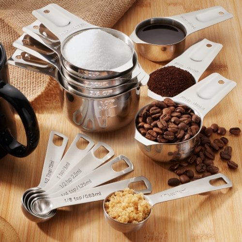 13-Pack, Stainless Steel Measuring Spoon & Cup Set by Last Confection Perspective: bottom