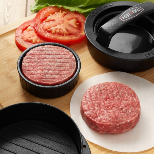 3-in-1 Burger Press Patty Maker with 100 Wax Papers by Pure Grill Perspective: bottom