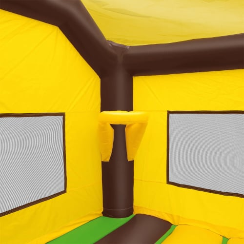 17'x13' Commercial Inflatable Jungle Bounce House w/ Blower by Cloud 9 Perspective: bottom