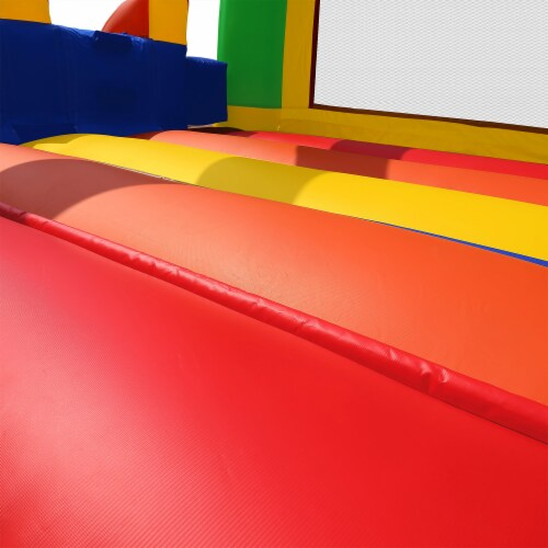 Commercial Mega Double Slide Castle Bounce House w/ Blower by Cloud 9 Perspective: bottom