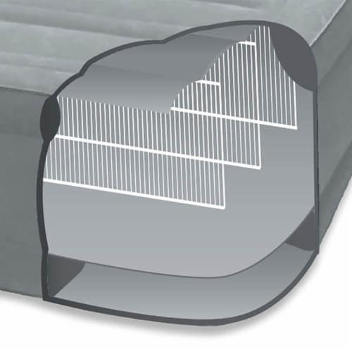 Intex Comfort Dura-Beam Elevated Twin Air Mattress w/ Built-In Pump (5 Pack) Perspective: bottom