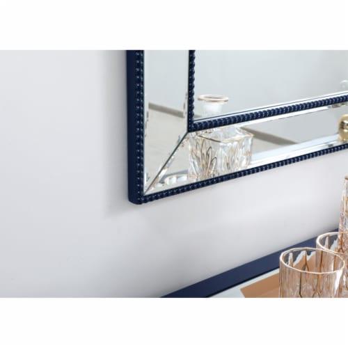 Iris beaded mirror 48 x 32 inch in blue Perspective: bottom