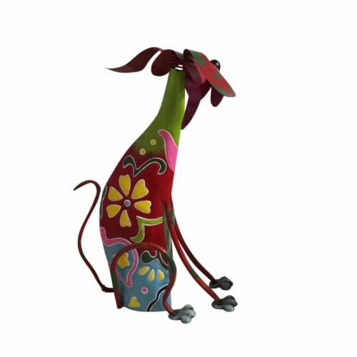 Benzara Metal Dog Sculpture Decor Perspective: bottom