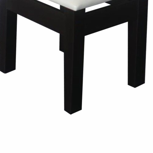 Benzara Comforting Dressing Stool - Black/White Perspective: bottom