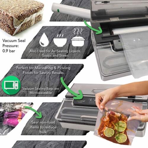 NutriChef PKVS50STS Kitchen Pro Food Electric Vacuum Sealer Preserver System Perspective: bottom