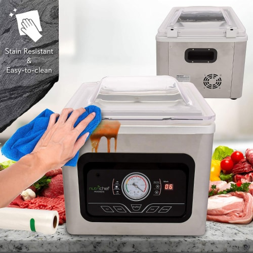 NutriChef PKVS70STS Chamber Food Electric Air Vacuum Sealer Preserver System Perspective: bottom