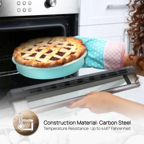 NutriChef NCBK6CT5 6-Piece Non-Stick Kitchen Oven Baking Pans Perspective: bottom