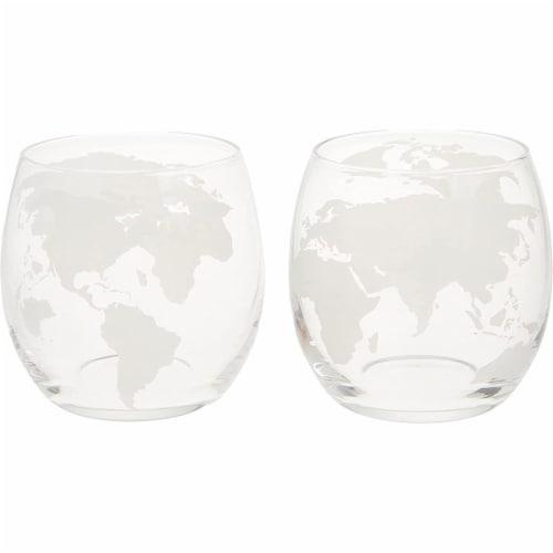 NutriChef Home Bar Glass Barrel Whiskey Carafe Alcohol Decanter Set w/ Glasses Perspective: bottom