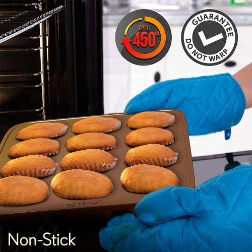 NutriChef Nonstick Cooking Kitchen Cookware Pots and Pans, 20 Piece Set, Bronze Perspective: bottom
