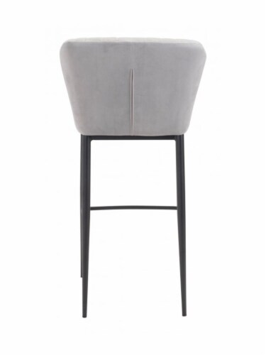 Zuo Luxurious Flared Back Tolivere Bar Chair Set of 2 -Gray Perspective: bottom