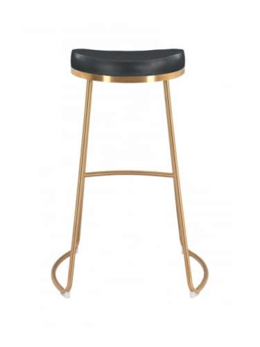Zuo Modern Backless Bree Round Barstool - Black and Gold Perspective: bottom
