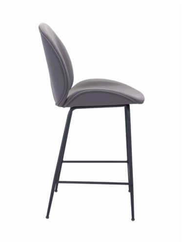 Zuo Modern Design Upholstered Miles Counter Chair - Gray Perspective: bottom