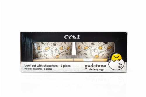 Gudetama 2 Pack 4 inch Ceramic Bowl & Chopstick Set Perspective: bottom