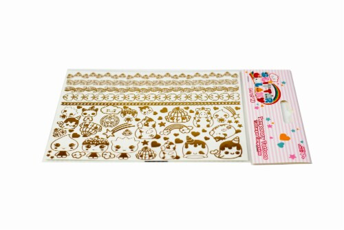Glitter Galaxy Gold Shimmer Temporary Tattoo Sheet Wave 1 Perspective: bottom