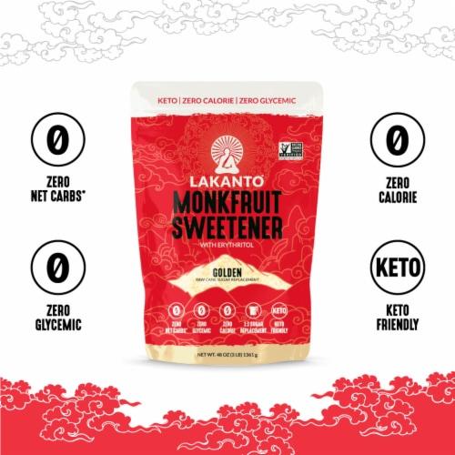 Lakanto Golden Monkfruit Sweetener - 1:1 Raw Cane Sugar Substitute (3 lb) Perspective: bottom