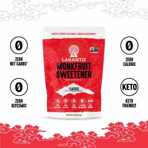 Lakanto Classic Monkfruit Sweetener - 1:1 White Sugar Substitute (3 lb) Perspective: bottom