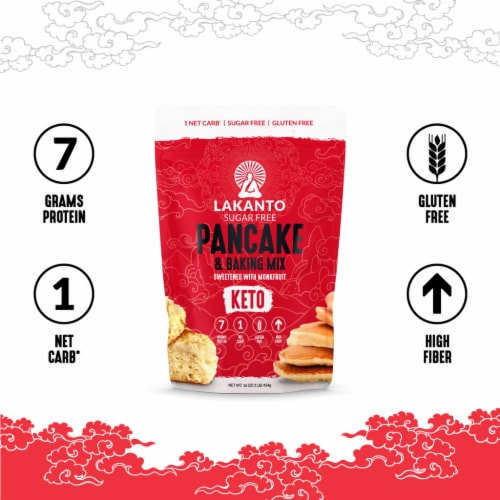 Lakanto Sugar Free Pancake and Baking Mix - Sweetened with Monkfruit (1 Lb) Perspective: bottom
